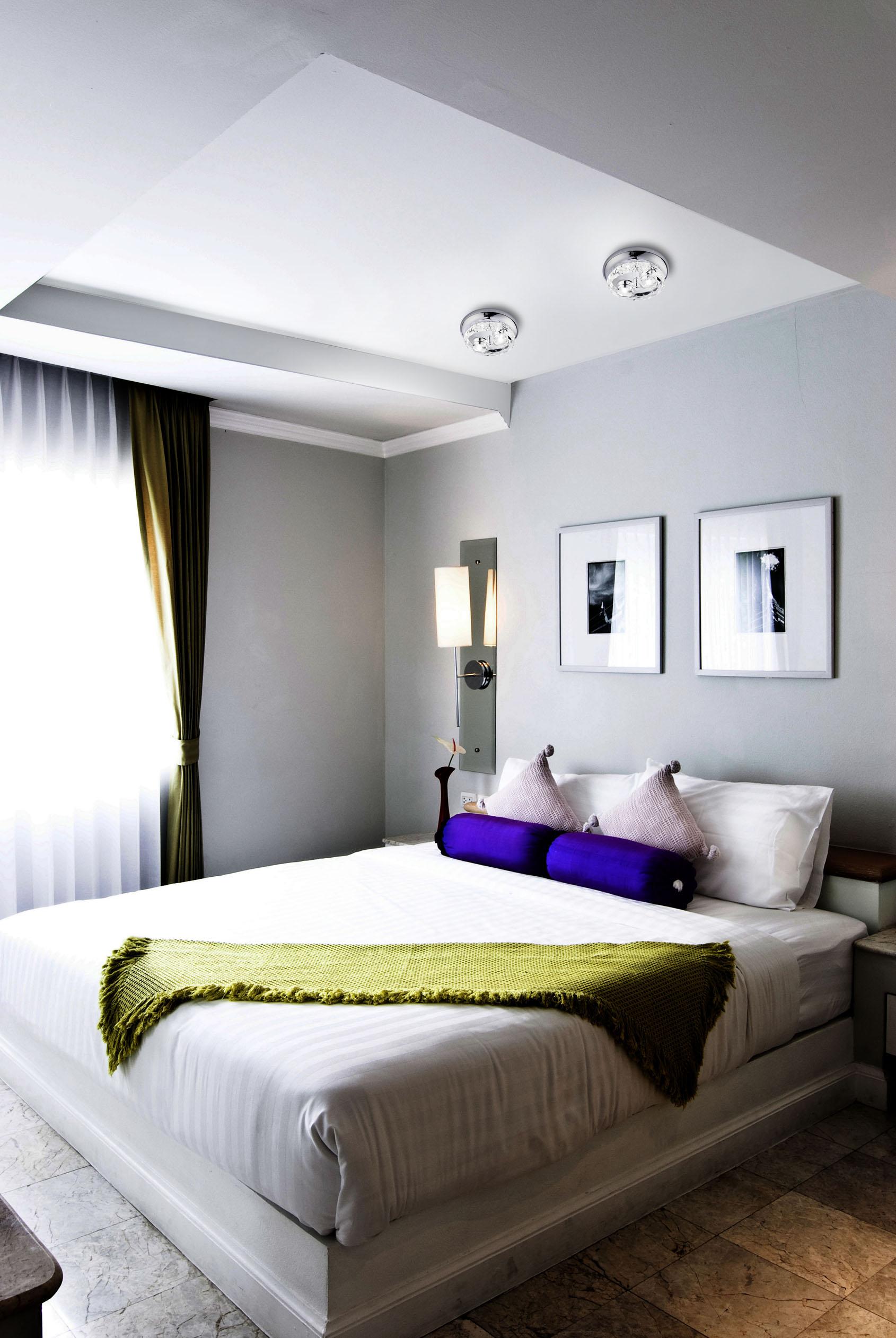 Iluminar el dormitorio algunos ejemplos que te servir n for Lo ultimo en lamparas de techo
