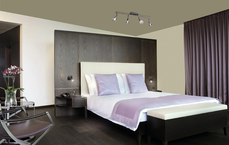 Iluminar el dormitorio algunos ejemplos que te servir n - Lamparas para dormitorios ...