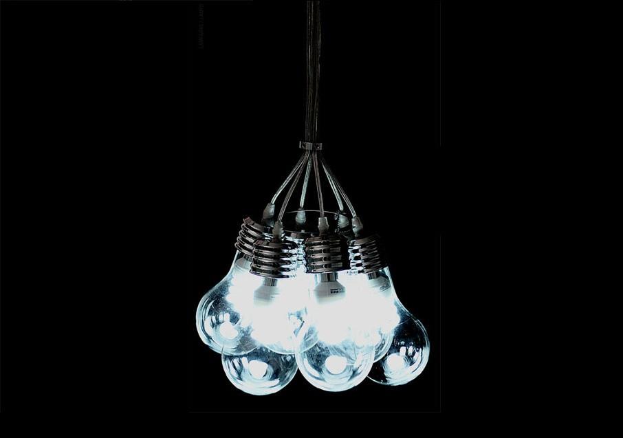 Decoraci n creativa con la lampara de techo bombilla - Como hacer una lampara de techo moderna ...
