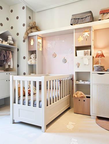 dormitorio del bebe decorado en blanco