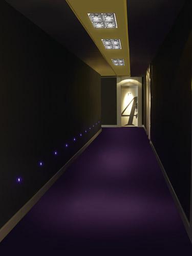 Iluminaci n de hoteles sistemas pr cticos y elegantes - Lamparas para pasillos casa ...