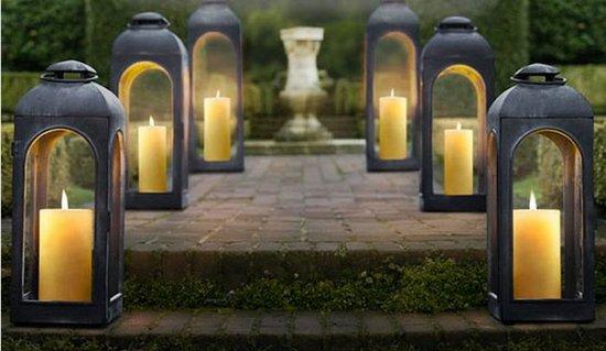 Iluminar con velas - Farolillos de exterior ...