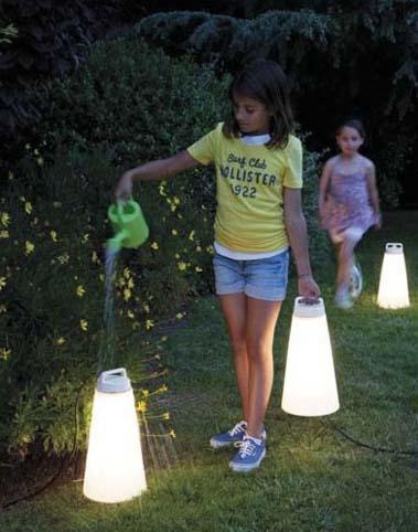 Lampara sasha especial para jard n y exterior en for Lamparas decorativas para jardin