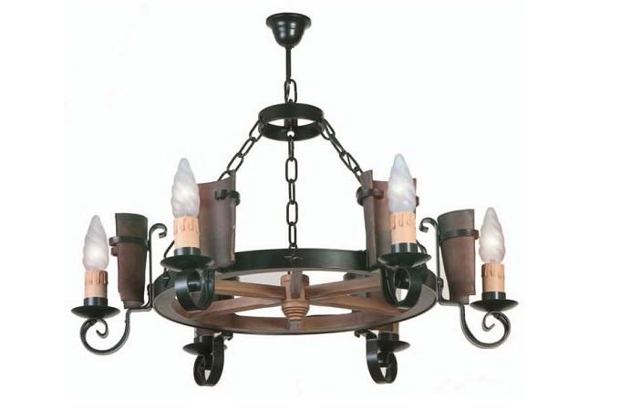 Lamparas de forja lampara de alvero lamps y apliques de - Lamparas y apliques rusticos ...
