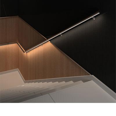 Decoled sistema pasamanos con iluminacion led para for Escaleras con luz