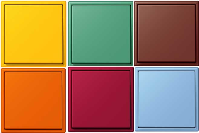 Interruptores de colores un toque de color para las - Interruptores de diseno ...