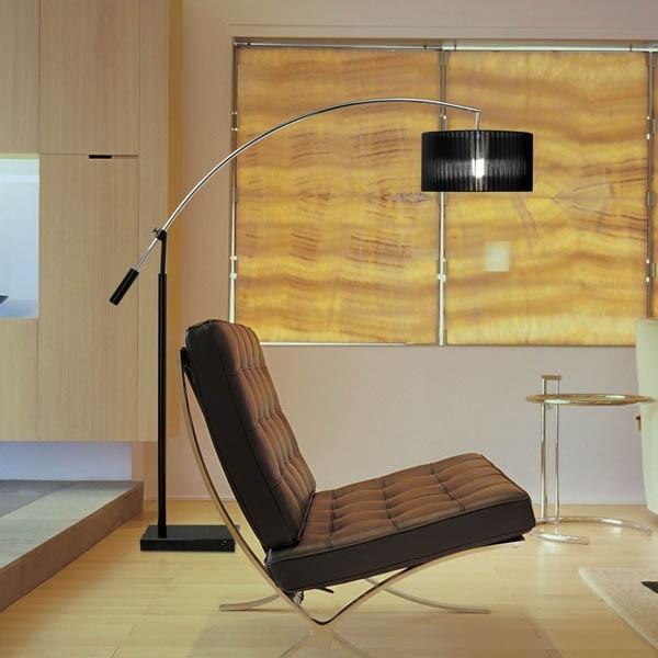 Pie de salón de estilo moderno.