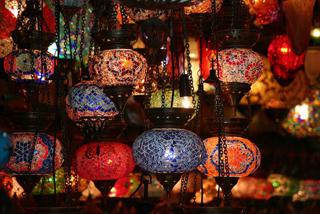 L mparas turcas l mparas de estilo rabe para cualquier habitaci n - Decoracion indu ...