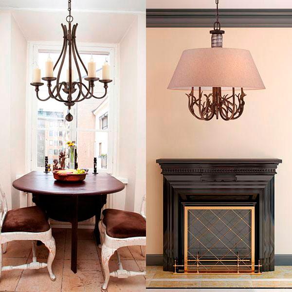 Iluminaci n de estilo r stico perfecto en bodegas y casas de monta a - Apliques de pared rusticos ...