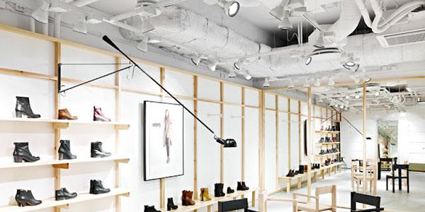 Iluminaci n de tiendas de complementos de moda - Iluminacion estilo industrial ...