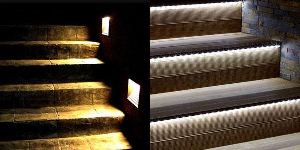 Consejos de iluminaci n exterior de chalets c mo iluminar exteriores - Iluminacion de escaleras ...