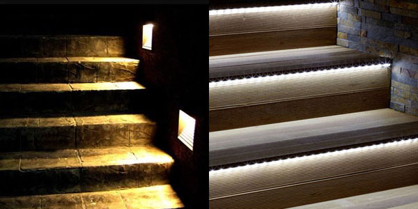 Consejos de iluminaci n exterior de chalets c mo iluminar exteriores - Iluminacion led escaleras ...