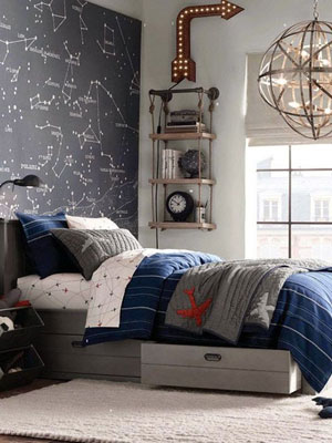 Ideas para iluminar cuartos juveniles - Lamparas de techo habitacion ...