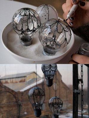 Ideas para reciclar bombillas una forma diferente de - Bombillas decoradas ...