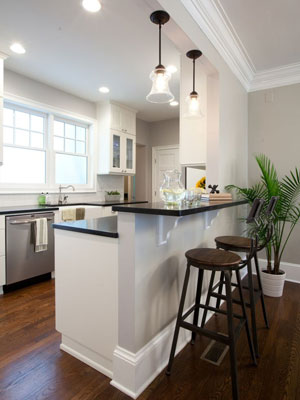 L mparas cl sicas en ambientes modernos - Lamparas para cocinas modernas ...