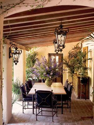 Ideas para la iluminaci n de estilo mediterr neo for Lamparas porche exterior