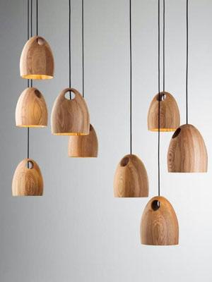 L mparas de hormig n lamparas de corcho todo es posible - Lamparas artesanales de madera ...