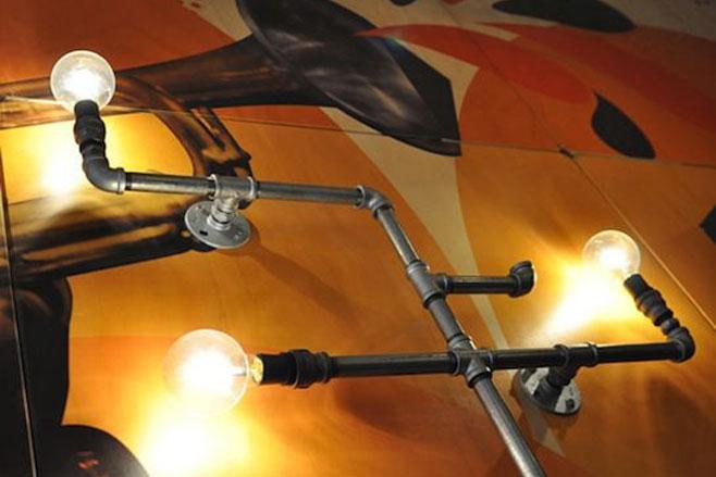 L mparas retro vintage con tuber as - Iluminacion estilo industrial ...