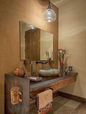 Selecci n de iluminaci n r stica perfecta para iluminaci n - Pared rustica interior ...