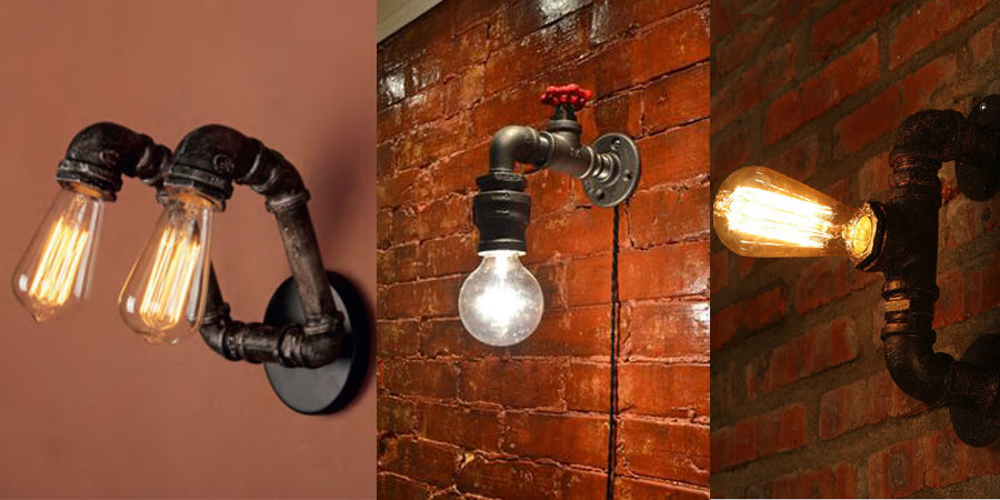 Lamparas de pared rusticas best glighone apliques de - Llaves de luz rusticas ...