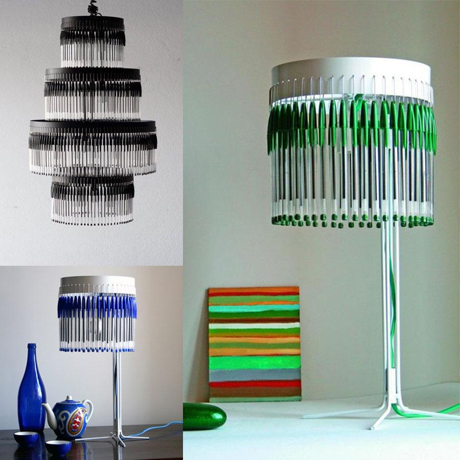 L mparas diy propuestas muy originales ii - Lamparas originales recicladas ...