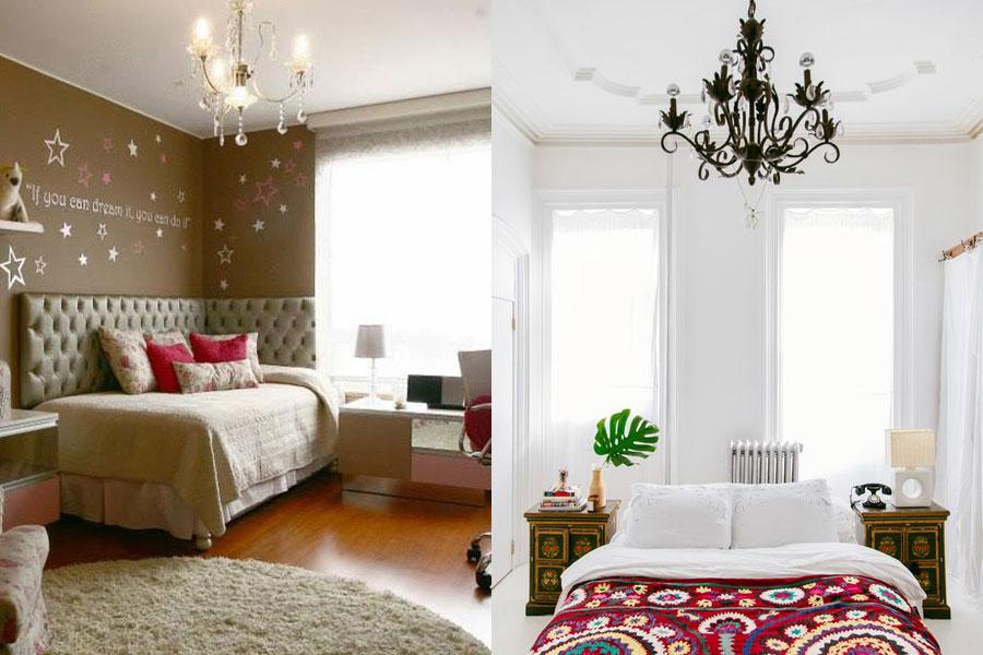 Consejos para elegir una l mpara de techo - Lampara arana colores ...