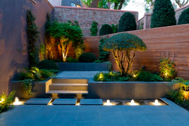Ideas para la iluminaci n de los jardines y las terrazas for Luces de exterior para jardin