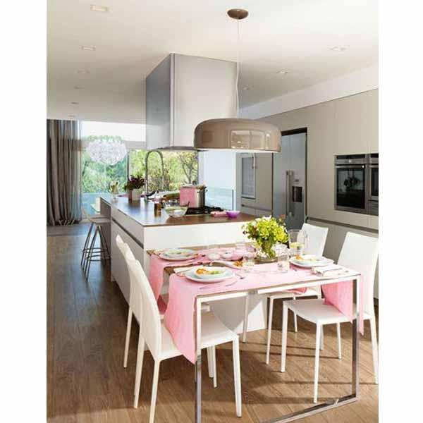 Grandes consejos e ideas para iluminar la mesa de tu - Lampara mesa comedor ...