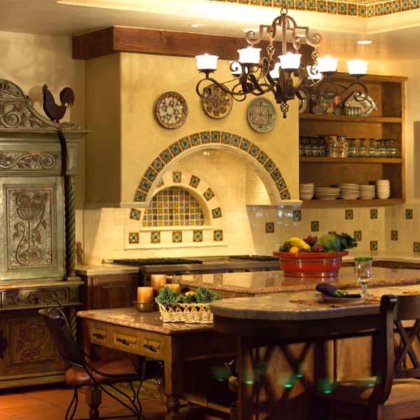 Cocinas iluminadas con l mparas de techo de estilo r stico - Lamparas para cocinas rusticas ...