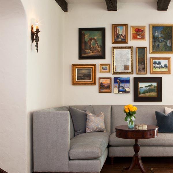 Cuadros encima del sofa abstracto amarillo y turquesa spa with cuadros grandes modernos para - Cuadros para encima del sofa ...