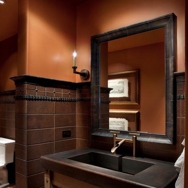 Nuevas ideas de l mparas para ba os de estilo r stico - Lamparas para espejo de bano ...