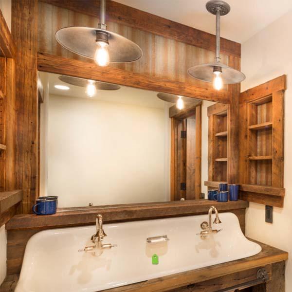 Nuevas ideas de lámparas para baños de estilo rústico ...