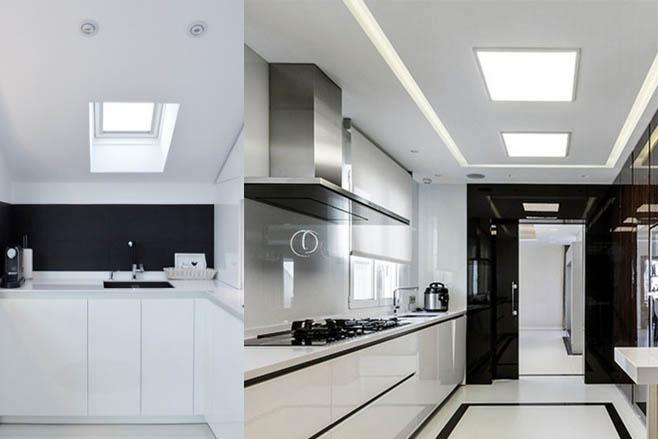 Lamparas de techo para cocinas excellent plafon pegado a - Luces para cocina ...