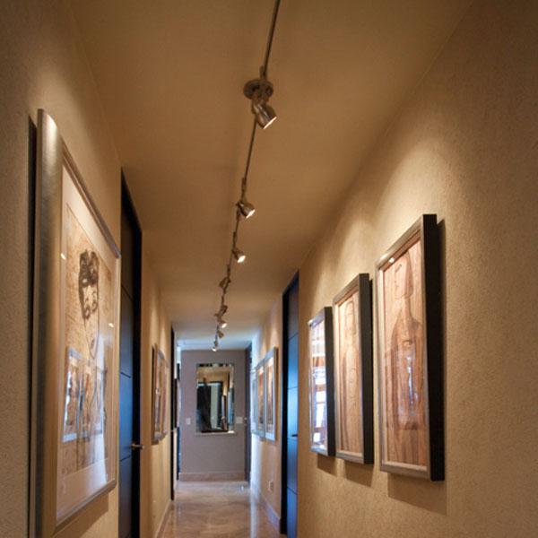 Lamparas para techos inclinados saln con rayas verticales - Iluminacion de techo ...
