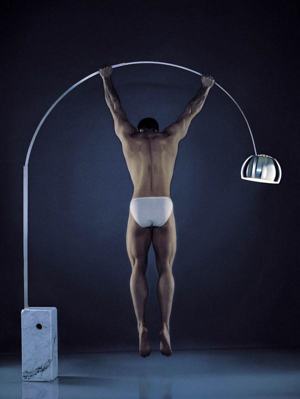 lampara arco de flos
