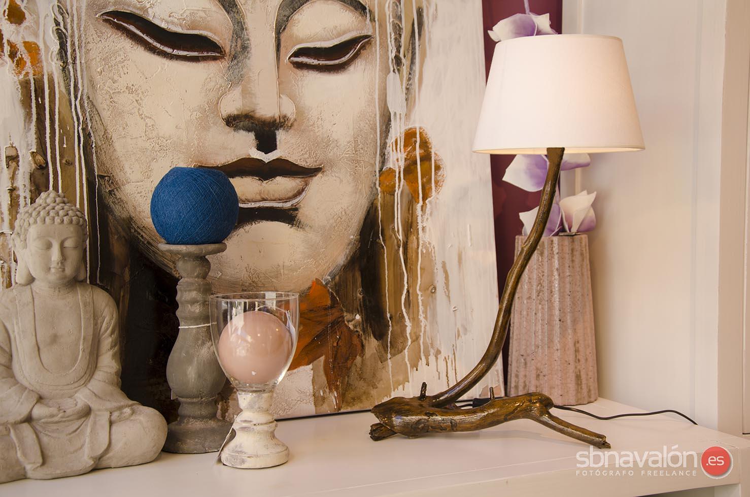 Lámpara mesa artesana