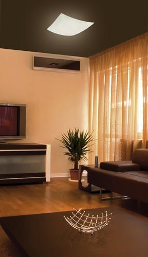 Iluminar el salon con un plafón de cristal decorativo