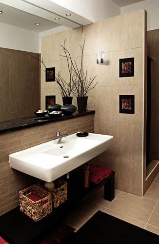 Aplique para decorar el baño
