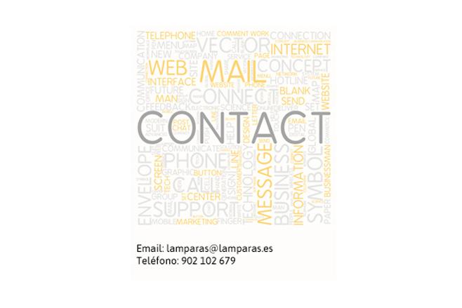 Contactar con Lamparas.es blog iluminacion