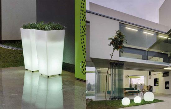 Maceteros iluminados led de new garden