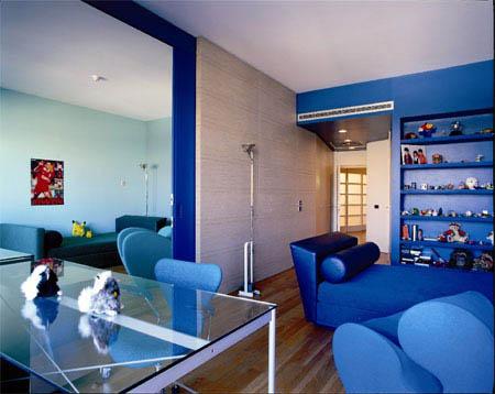 Pintar el salon azul