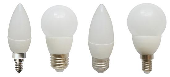 bombillas leds esfericas y candle vela