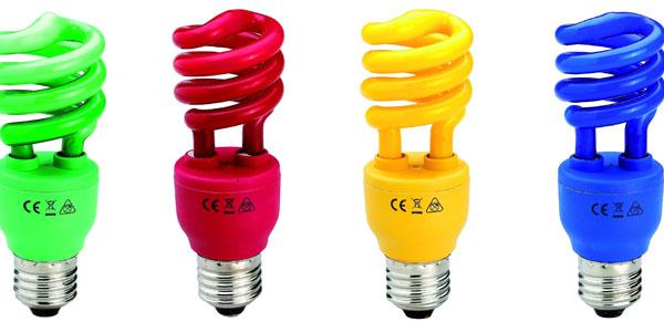 Bombillas decorativas de colores (bajo consumo)