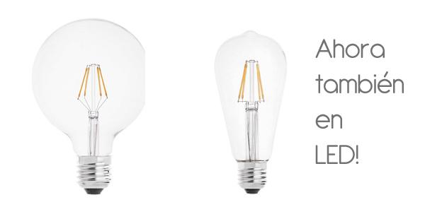 Bombillas de filamento LED globo y Edison