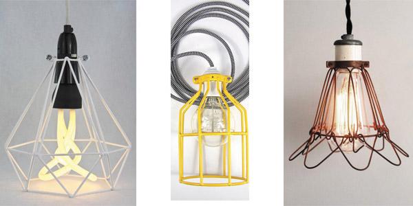 Jaulas retro-vintage para bombillas decorativas