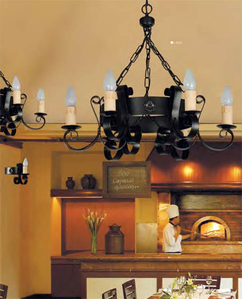 Lampara-rustica-velas
