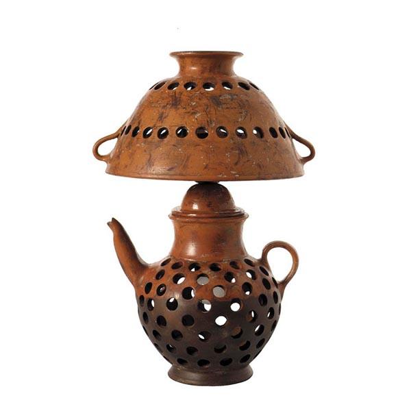Lampara jarra ceramica