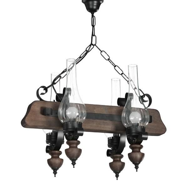 lampara para bodega candle 4 luces