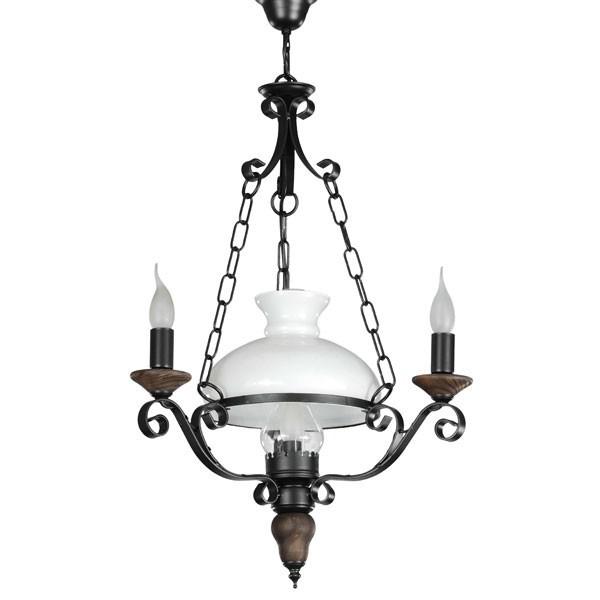 lampara redonda bodega 4 luces