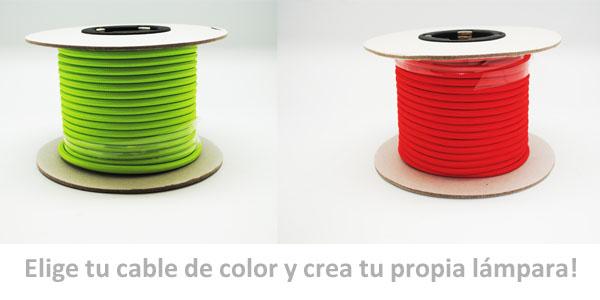 Rollo de 25 metros de cable textil de colores